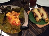 stuffed plantains (r) and PATARASHCA